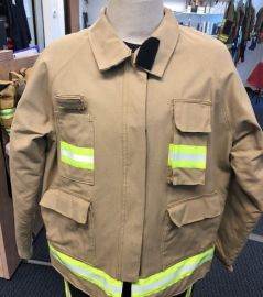Fire Fighter Reflective Winter Turnout Jacket I Fuego Fire Center - Khaki