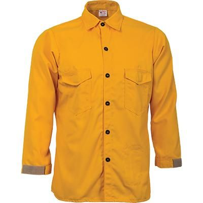 Crew Boss Tecasafe Plus 5.8 oz Trad. Brush Shirt (Yellow)