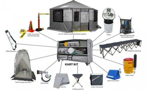 Crew Boss Rehab Cart Kit with CB 16 Shelter Wildland Rehab Kits