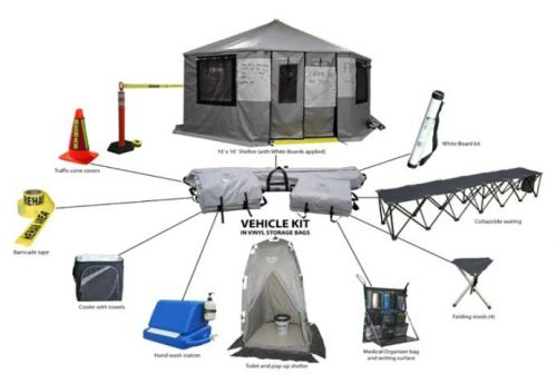 Crew Boss Vehicle Kit with CB 16 Shelter Wildland Rehab Kits