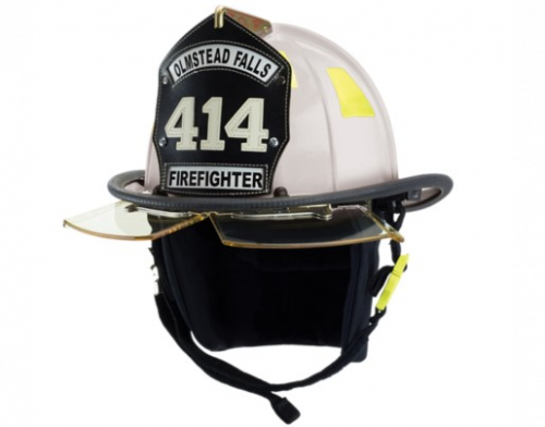 Cairns N5A New Yorker Leather Fire Fighter Helmet I Fuego Fire Center - White