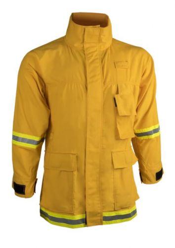 Crew Boss 7.5 oz Nomex IIIA Yellow Wildland Interface Brush Coat