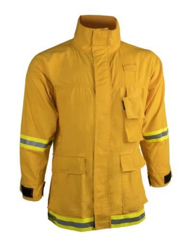 Crew Boss 7 oz Tescafe Plus Yellow Wildland Interface Brush Coat