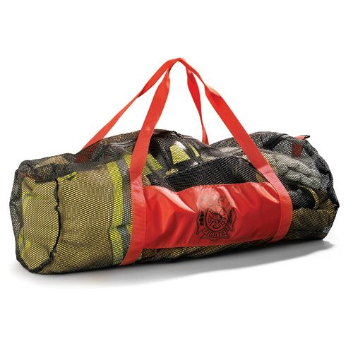 Protect your turnout gear with this extra large Mesh Firefighter Bag with strong nylon mesh fabric providing total breathability.  Fuego Price:  $29.99