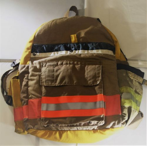 Upcycled Fire Fighter Bunker Gear Backpack I Fire Tested I Fuego Fire Center