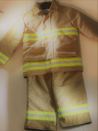 Hand-Made Kids Fire Fighter Bunker Gear Costume I Fuego Fire Center