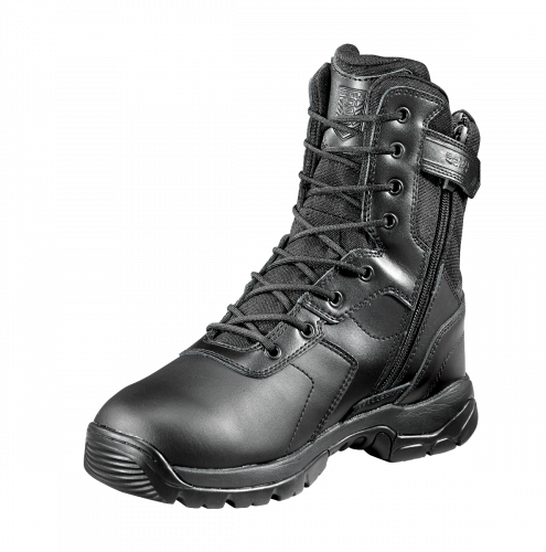 "Battle Ops Black Diamond 8"" Waterproof Tactical Boot I Side Zip Non-Safety Work Boot I Fuego Fire Center"