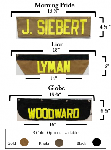 Firefighter Name Panels