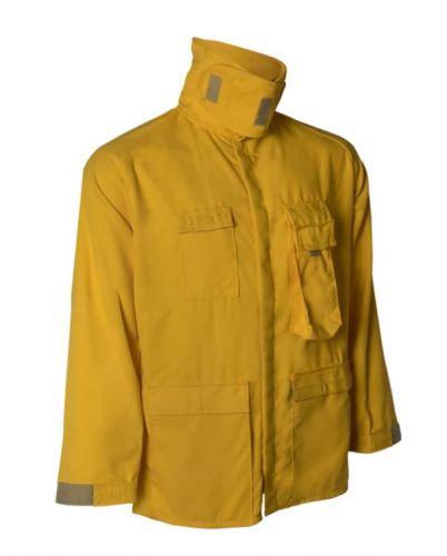 Crew Boss 7 oz Tecasafe Plus Yellow Wildland Brush Coat