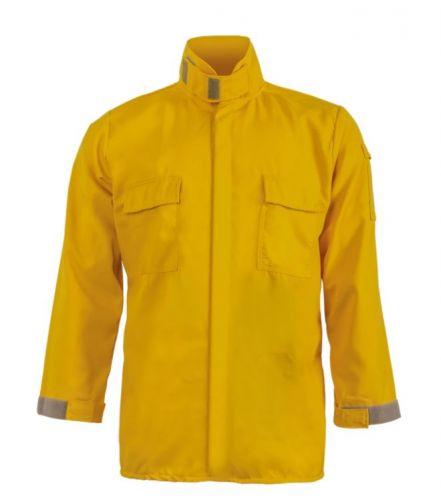 Crew Boss 5.8 oz Tescafe Plus Yellow Wildland Brush Shirt