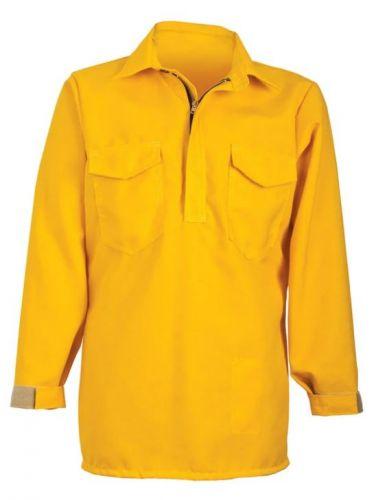 Crew Boss 6 oz Nomex IIIA Yellow Wildland Hickory Shirt