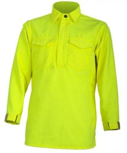 Crew Boss 7 oz Tescafe Plus High Viz Wildland Hickory Shirt