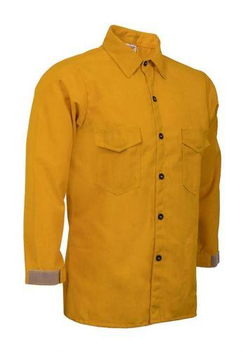 Crew Boss 6 oz Nomex IIIA Yellow Wildland Traditional Brush Shirt